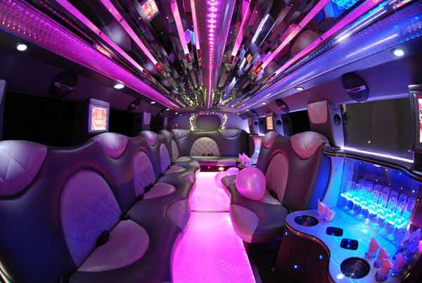 Cadillac Escalade limo interior Norfolk
