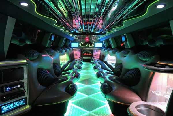 Hummer limo interior Papillion
