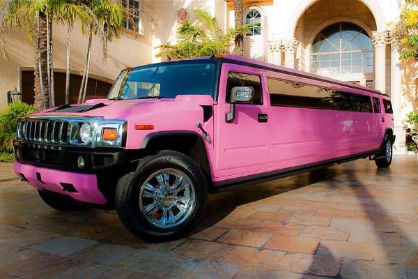 pink hummer limo service Fremont